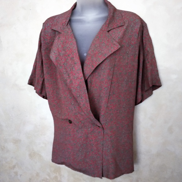 Jones New York Tops - Jones New York Double Breasted Blouse EUC 14